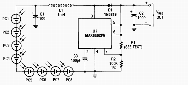 solar power supply circuit diagram