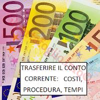 portabilità del conto corrente tempi costi procedura