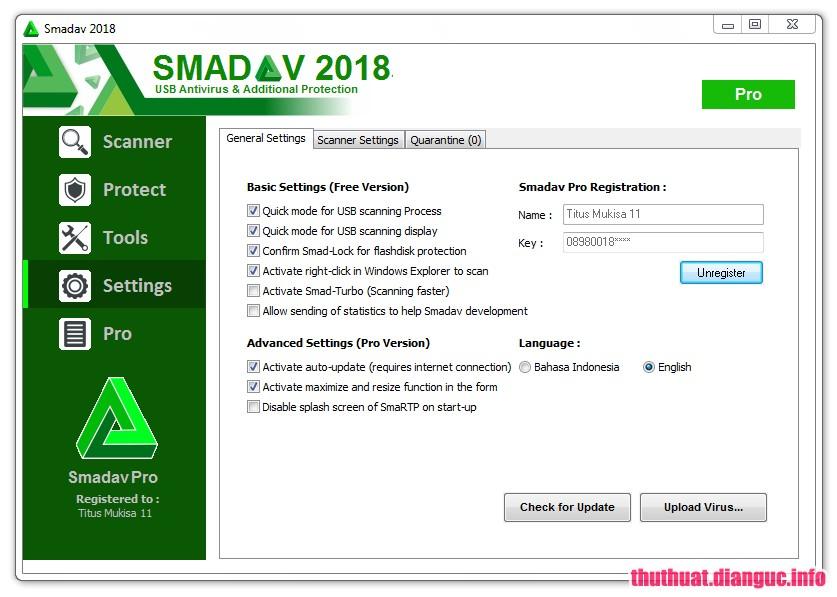 Download SmadAV Pro 2018 Rev 12.0.1 Full Key - Phần mềm diệt Virus nhẹ nhất