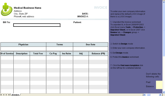 Download Simple Billing Invoice Template Download Free Office - Simple billing invoice