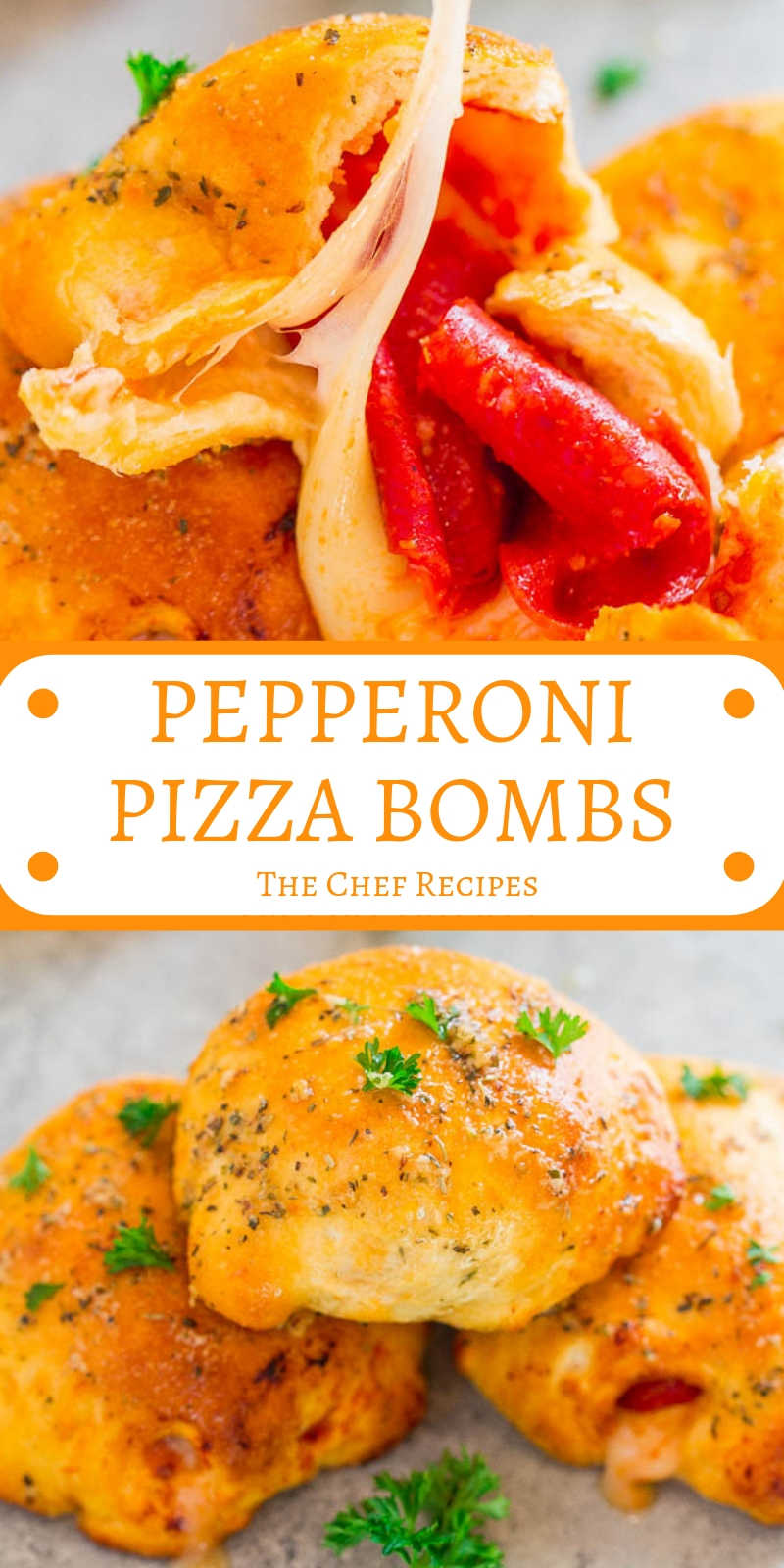 PEPPERONI PIZZA BOMBS