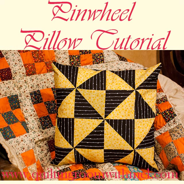 Pinwheel pillow tutorial