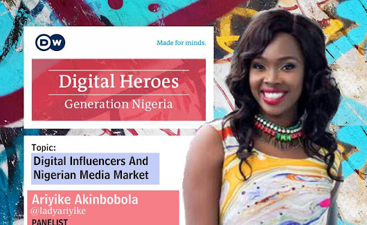 Ariyike Akinbobola is a Panelist for the D W Digital Influencers and the Nigerian Media Market Event
