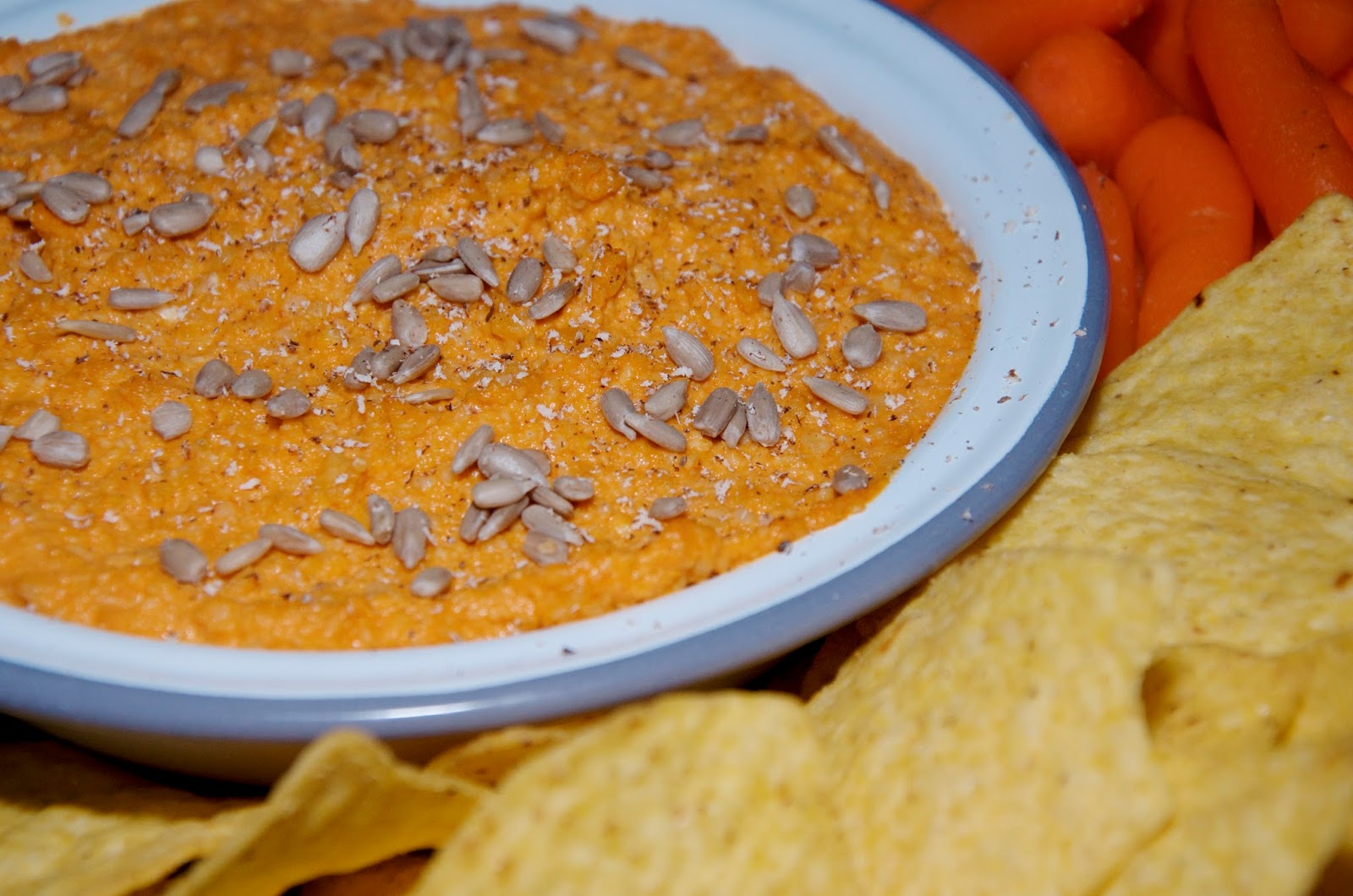 Buffalo Cashew Dip with sunflower seeds