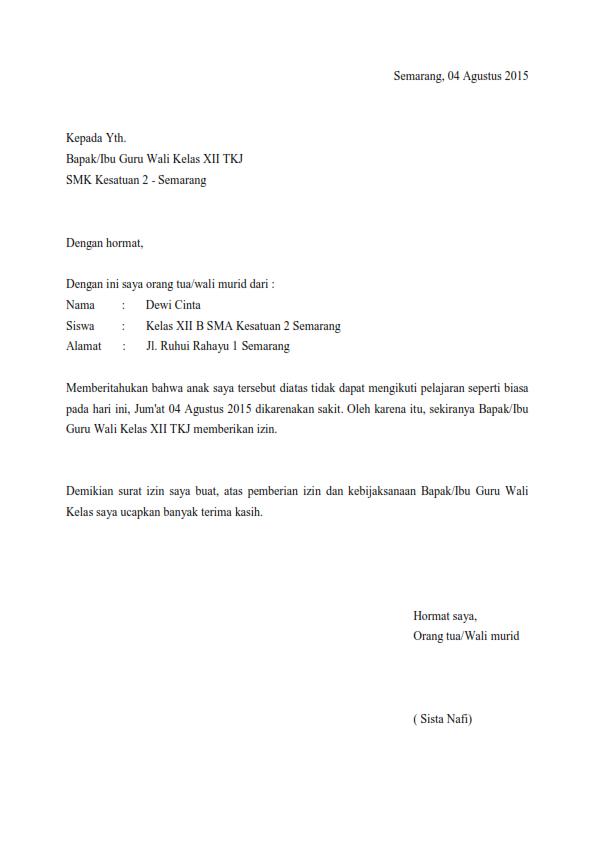 contoh surat resmi izin contoh z