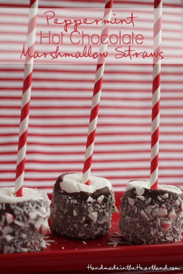 Peppermint Hot chocolate Marshmallow Straws