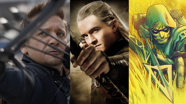 hawkeye, legolas and green arrow