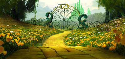 el camino amarillo del cuento de Dorothy y el Mago de Oz. otro enfoque