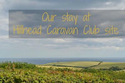 View of the sea from Hillhead Caravan Club site