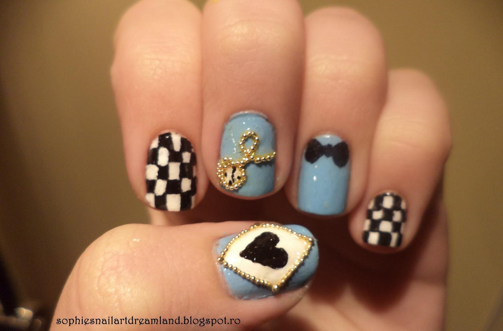 Disney Nails - Alice in Wonderland | Sophie's Nail Art ...
