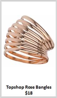 Sydney Fashion Hunter - Rose Gold - Topshop Rose Bangles