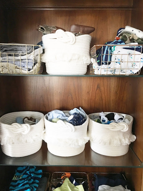 china cabinet as baby closet