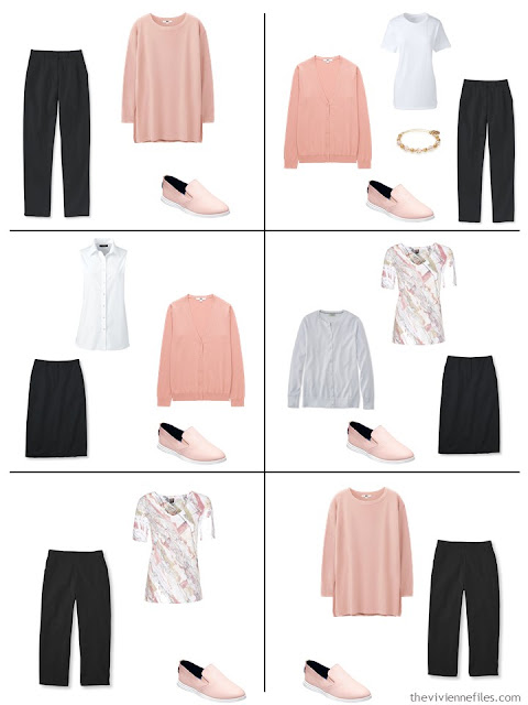 si ways to wear blush with black and white in warmer weather