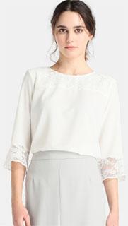 blusa blanca con encaje y canesu 2018
