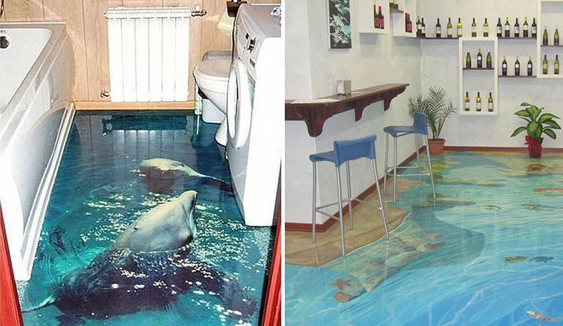 Pisos en 3D que traerá un océano dentro de tu casa