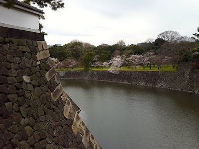 The moat of Imperial Palace in Japan