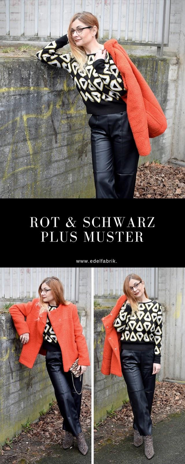 Orange und Schwarz zusammen kombinieren, Orange Jacke