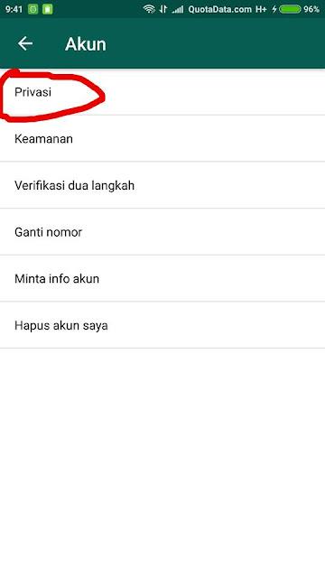 Cara Menghilangkan Status Online Whatsapp Terbaru