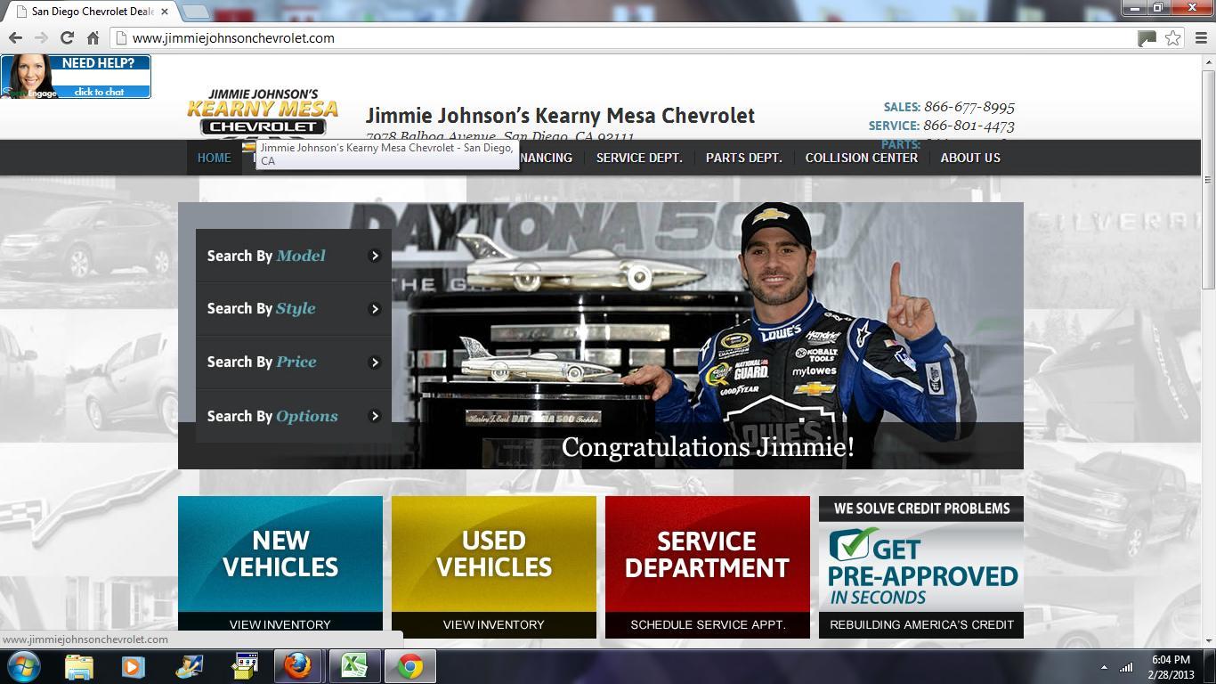 Jimmie Johnsonu0027s Kearny Mesa Chevrolet   A Harbor Truck Bodies Dealer