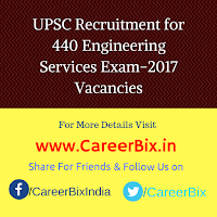 UPSC Recruitment for 440 Engineering Services Exam-2017 Vacancies