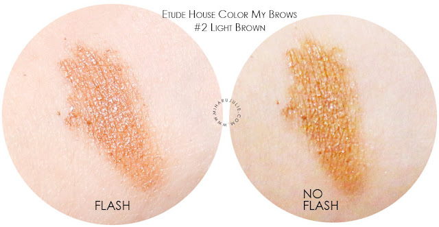 etude house color my brows light brown review