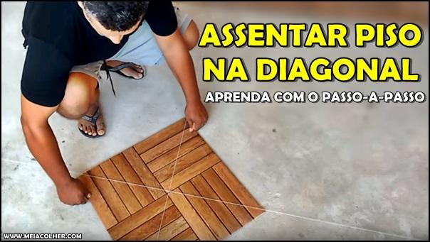 assentando piso na diagonal