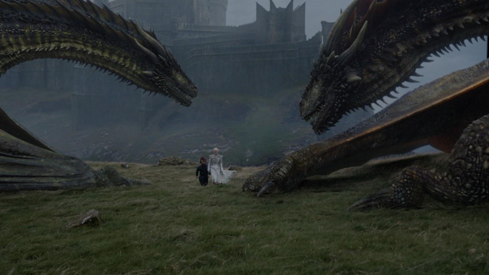 Daenerys con sus dragones