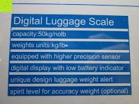 Spezifikation: E-PRANCE® Kofferwaage Gepäckwaage Digitale Waage für Reise/Koffer bis 50KG Kapazität