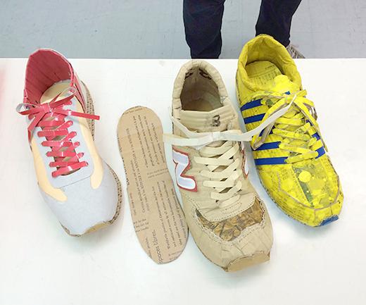 横浜美術学院の中学生教室 美術クラブ 「紙でつくる靴」サンプル