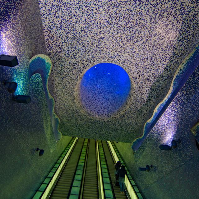 la stazione metro più bella d'europa