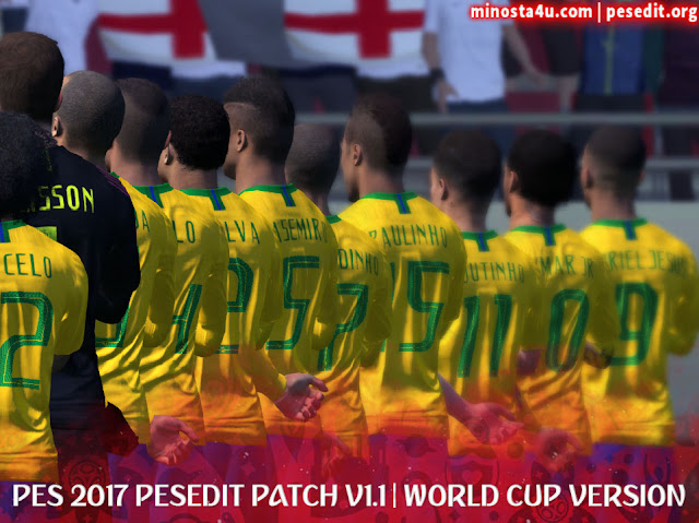 PES 2017 PESEDIT 1.1 PATCH 2018/19 WORLD CUP EDITION