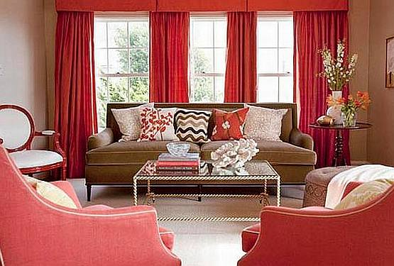 Red And Brown Living Room Curtains u2013 Modern House - red and brown living room