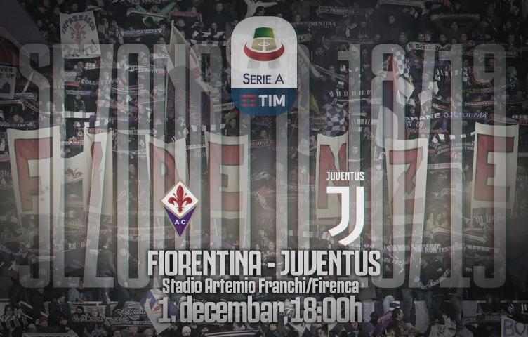 Serie A 2018/19 / 14. kolo / Fiorentina - Juventus, subota, 18:00h
