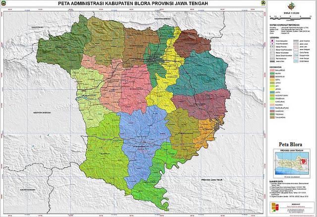 Peta Kabupaten Blora