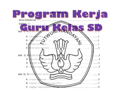 Program Kerja Guru Kelas SD