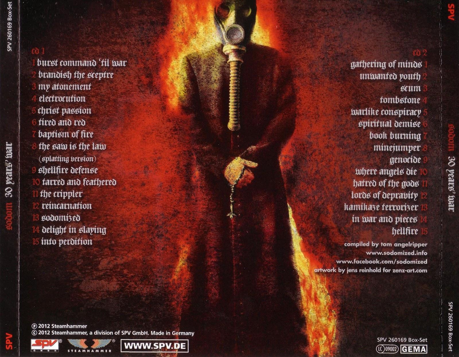 SODOM 30 Years War Sodom Album Metal e Album covers
