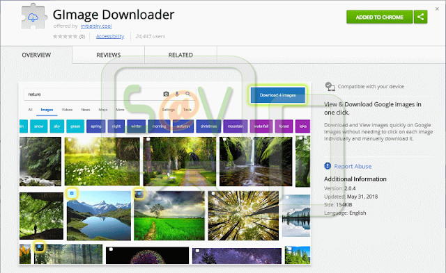 GIMage Downloader (Extensiones forzosas de Chrome)
