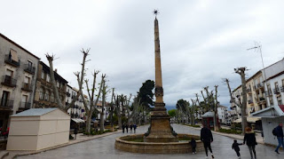 Baeza. Plaza de la Constitución y Fuente de la Estrella.