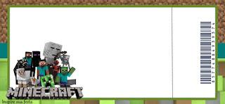 Invitacion para Imprimir Gratis de Fiesta de Minecraft.