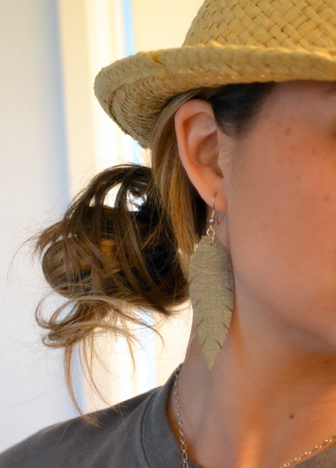 How To Make Leather Feather Earrings Craft Little Miss