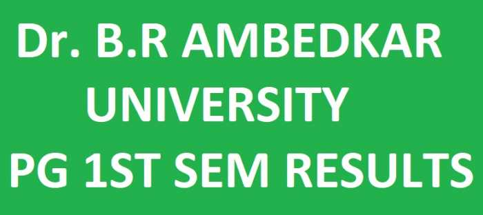 Dr B R Ambedkar University PG 1st Sem Exam Results February 2018 @ manabadi