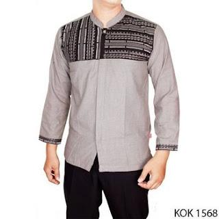 baju koko motif batik lengan panjang