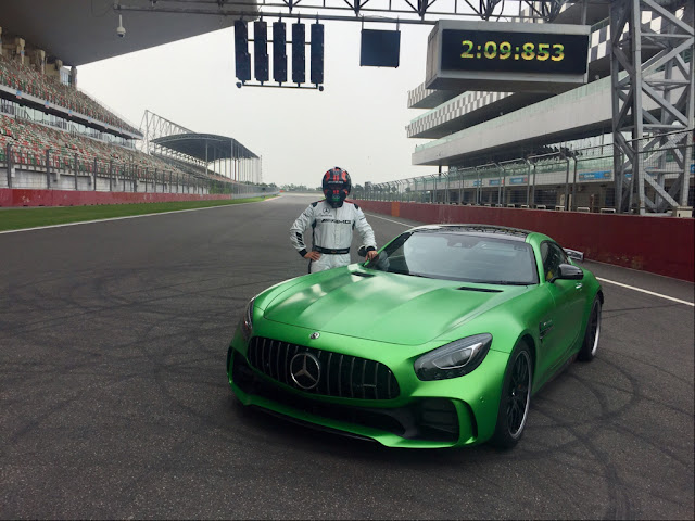 Mercedes-AMG GT R clocks the 'fastest lap ever' by a production car at the Buddh International Circuit; zips through the F1 track in 02:09.853