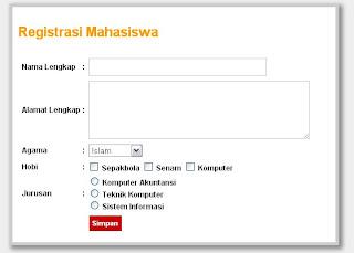 Membuat Form Registrasi Dengan Codeigniter
