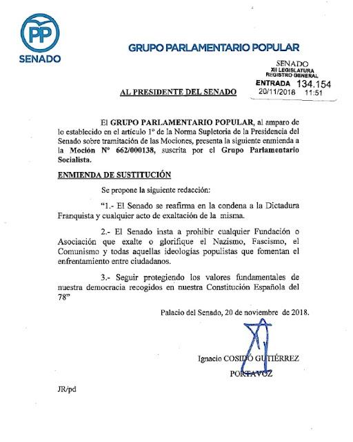 """El PP pide ilegalizar organizaciones """"comunistas y populistas"""""""