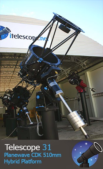 Image of Modern Remote Robotic Telescope For Astrophotography