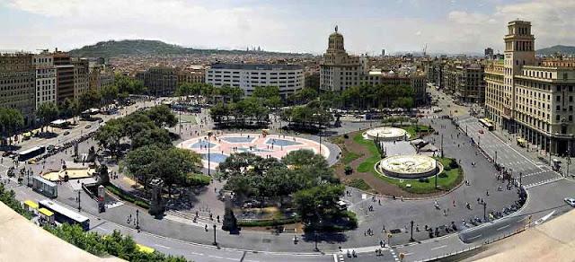 Vista do El Corte Inglés em Barcelona