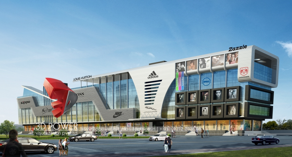 3D Architectural Shopping Mall Design