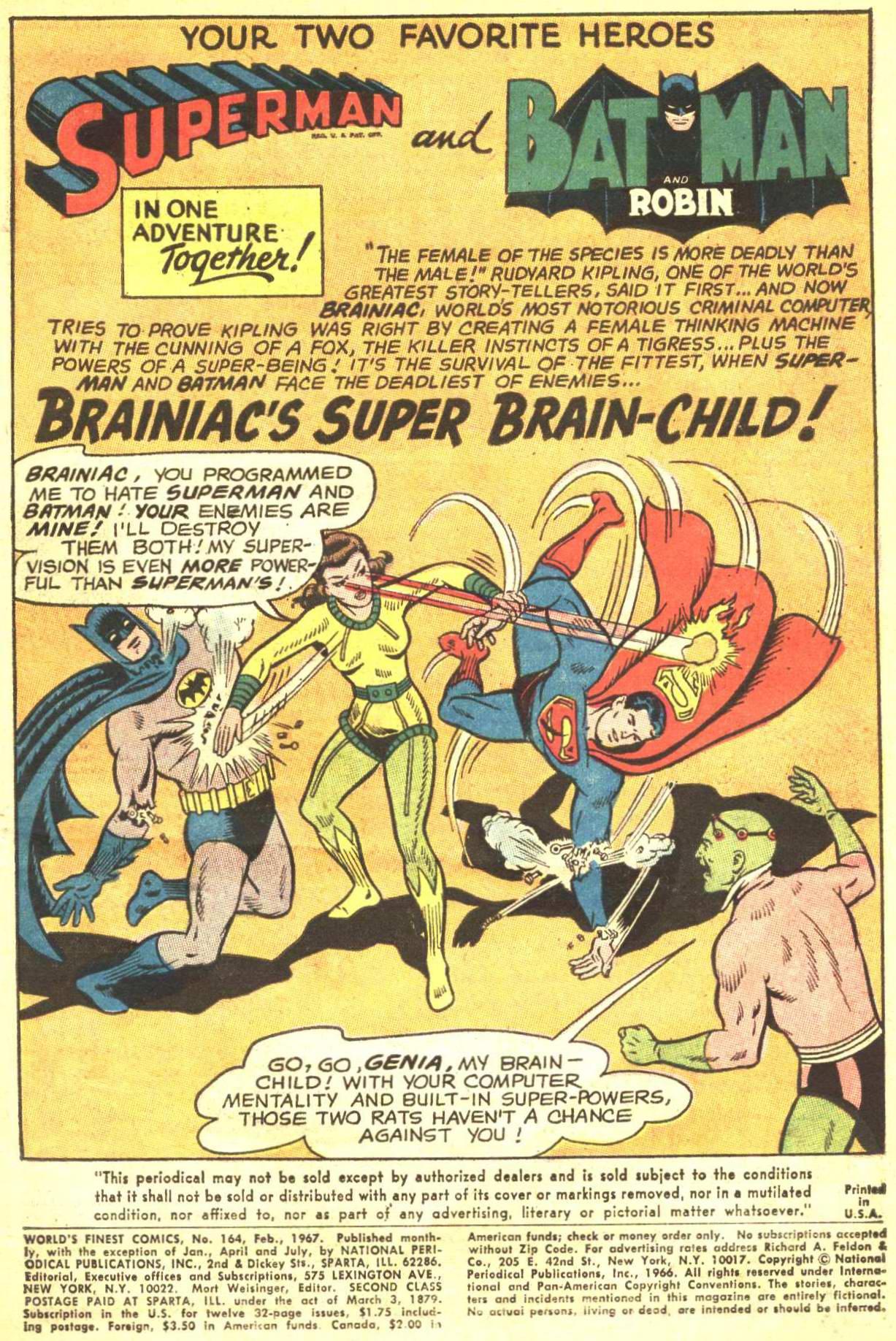 Read online World's Finest Comics comic -  Issue #164 - 3