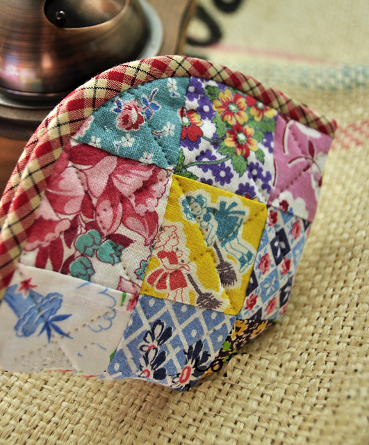 Patchwork Accessory Bag Case. Tutorial DIY in Pictures.